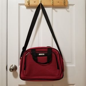 TAG Red and black Canvas Duffle Bag